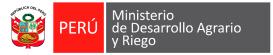 Ministerio de Desarrollo Agrario y Riego